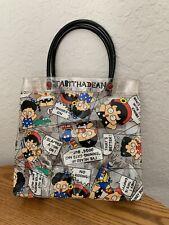 VTG Sanrio Tabitha Dean Mini Vinyl Tote Bag 1989 1990 RARE!