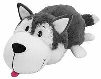 "FlipaZoo Stuffed Animal 16"" Husky Dog to Polar Bear, Flip a Zoo Pillow, New Tags"