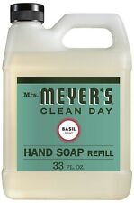 Mrs.Meyer's Clean Day Liquid Hand Soap Refill, Basil Scent 33 Oz