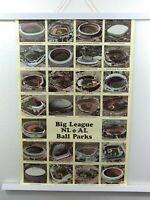 Vintage 1989 Big League NL AL ball Parks poster