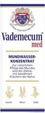 2 BOTTLES Vademecum med Mouthwash & Gargle Concentrate 2 x75ml (= 5.0 oz) New