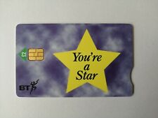 "BT Phonecard - ""You're A Star"" Phone Card In Excellent Condition Throughout !"