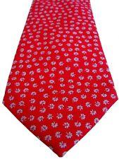 CHARLES TYRWHITT Mens Tie Red - Flowers NEW BNWT
