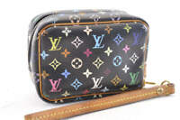 LOUIS VUITTON Monogram Multicolor Canvas Trousse Wapity Pouch Black LV Auth 3686