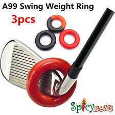 3pcs/pack Spicybuys Golf Club Weighted Swing Ring -  Warm-Up Tool, warm muscles