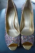 Nine West Glitter Court Shoe High Heel & Platform  Size 7W US / 4.5UK/ 37.5 EU