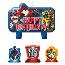 Transformers Birthday Party Cake Candles Toppers Pack of 4