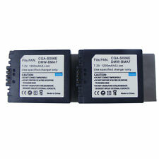2XCGA-S006E Battery For Panasonic Lumix CGR-S006A/1B DMW-BMA7 DMC-FZ50 FZ28 FZ30