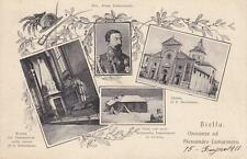 C423) BIELLA 1911, ONORANZE AD ALESSANDRO LAMARMORA FONDATORE BERSAGLIIERI. VG.