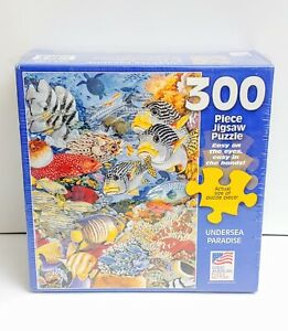 """Great American Puzzle Factory Undersea Paradise 300 Pc Jigsaw Puzzle - 19"""" x 26"""""""