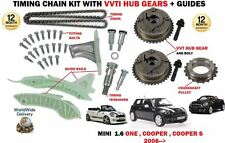 FOR MINI N12 B14A N16 B16A N12 16A N18 B16B TIMING CHAIN KIT + VVT HUB GEARS