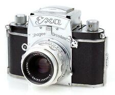 Vintage IHAGEE DRESDEN Kamera EXA (0) mit Objektiv CARL ZEISS JENA TESSAR 2.8/50