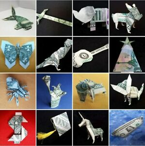 Money ORIGAMI Many Designs Handmade Art GIFTS Real Dollar Bills Home Wall Decor