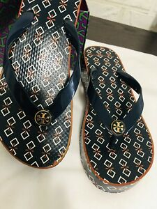 Tory Burch  Wedge Flip Flop Spring T Small /New Ivory 7