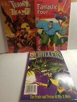 3 90's Marvel TPB Lot New Fantastic Four Monsters Team x Team 7 & Chillers