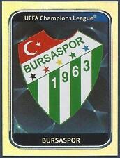 PANINI UEFA CHAMPIONS LEAGUE 2010-11- #192-BURSASPOR TEAM BADGE-SILVER FOIL