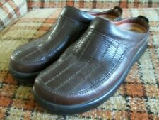 Footprints by Birkenstock Womens 8 (38) Brown Leather Low-Back Clog Shoes