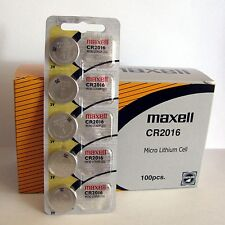 100 original Maxell CR2016 CR 2016 Lithium 3V Battery NEW