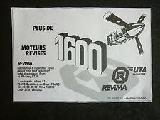 12/1985 PUB REVIMA UTA INDUSTRIES CAUDEBEC-EN-CAUX PRATT WHITNEY ORIGINAL AD