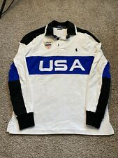 Polo Ralph Lauren small Pony USA rugby Men Shirt Small Custom FIT