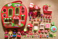 Strawberry Shortcake - Lot of Various Dolls Accessories & Case - Nice Assortment