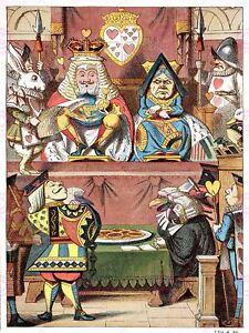 Painting Book Carrol Alice Wonderland Tenniel Knave Hearts Canvas Art Print