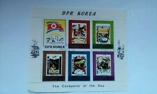 """Stamp Sheet,""""The Conquer Of The Sea"""" 1980."""