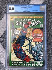 AMAZING SPIDER-MAN #107 CGC 8.0 MARVEL COMIC 1972 SPIDER SLAYER APPEARANCE