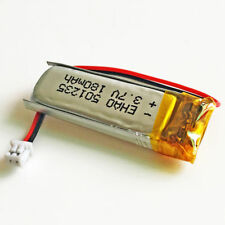 501235 3.7V 180mAh LiPo Polymer Battery JST 1.25mm 2pin For Mp3 GPS Bluetooth