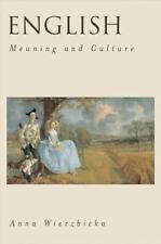 English: Meaning and Culture (Paperback or Softback)