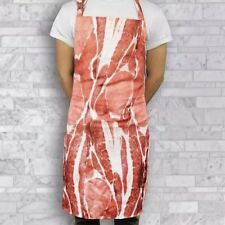 Noki Full Bacon Print BBQ Grill Kitchen Apron - 100% Polyester - One Size