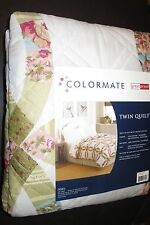 Colormate Quilt Pattern Colette Twin Size NIP