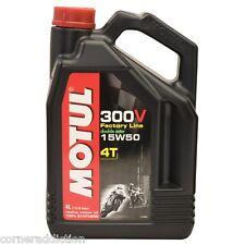 Motul 300V 4T Full Synthetic Motorcycle Oil 15W-50 4 Liter liter 1 US gallon