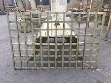 6x4 Heavy Duty Squared Trellis Fence Topper Lattice TREATED Wood RRP £30