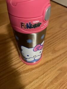Hello Kitty Thermos Funtainer Stainless Steel Bottle Keeps Cold 12 oz Brand New