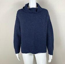 EILEEN FISHER Merino Cashmere Sweater Boxy Navy-Blue Petite Medium PM - NTSF