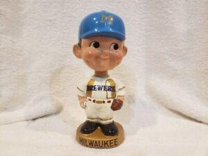 GORGEOUS 1971 Milwaukee Brewers, Round Gold Base Bobblehead, FABULOUS EXAMPLE!