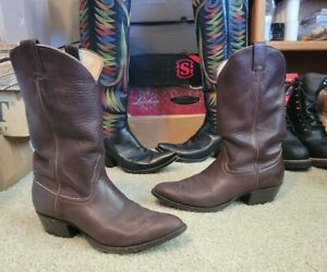 Mens Larry Mahan Soft Brown Elk Leather Cowboy Boots 12  Thee Iowa BOOT Man