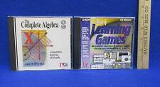 Complete Algebra Cd Rom & Best of Learning Games for Windows Educational 2 Lot