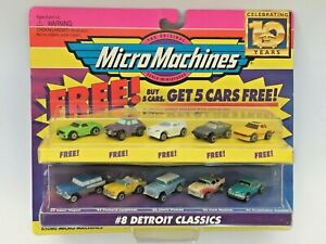 MICRO MACHINES 1997 #8 DETROIT CLASSICS EDSEL PACKARD CHEVY FORD STUDEBAKER 5+5