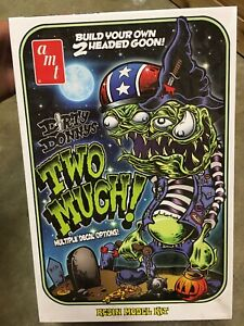 """Rare HTF AMT Dirty Donny's Resin Figure """"TWO MUCH!"""" RESIN Limited Edition"""