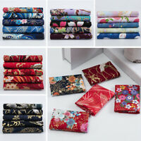 5x Japanese Style Bronzing Cotton Sewing Fabric Patchwork Quilting DIY 20x25cm