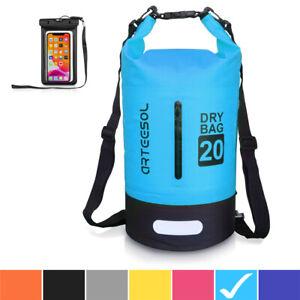 arteesol Dry Bag 20L 30L Wasserdicht Seesack Rucksack mit Handytasche Rafting