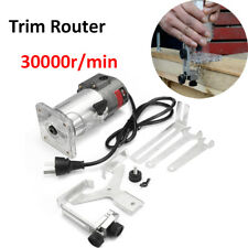 30000rpm 300W 220V Trim Router Wood Palm Laminate Clean Cuts Power Joiners Tool