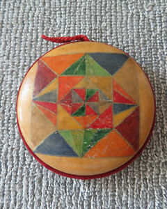 Large Antique Pinwheel Pincushion Geometric Design