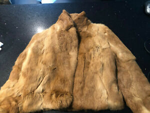 Ladies Fur Jacket Rabbit Fur
