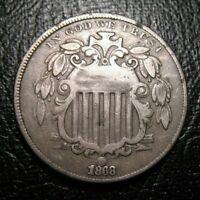 OLD US COINS 1868 Shield Nickel  Highgrade NICE DETAILS