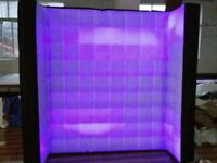 2.4m Inflatable Lighting Wall For Photo Booth with LED Lights & Internal Blower