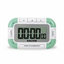 Salter 4 Way Digital Kitchen Timer – Electronic Cooking / Baking Stopwatch, 4 T