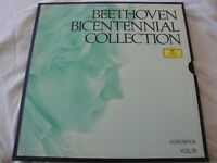 BEETHOVEN BICENTENNIAL  COLLECTION VINYL LP BOX SET 1970 DEUTSCHE GRAMMOPHON EX